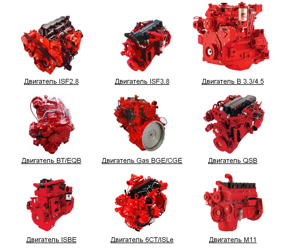 Запасные части для двигателей Камминз