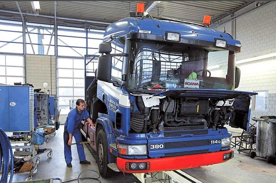 Станция технического обслуживания грузовых и автобусов