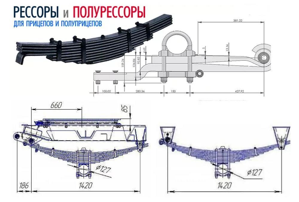 Рессоры для прицепов и полуприцепов в Ростове